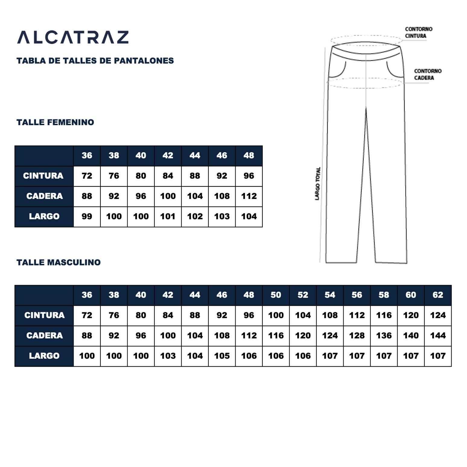 Pantalon Rip Stop Negro Hombre Y Mujer Alcatraz